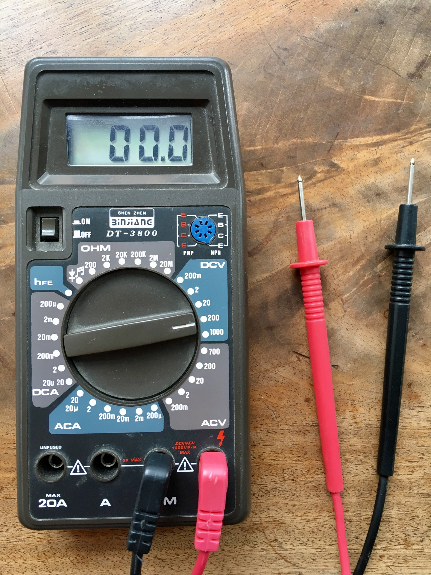 "My First Multimeter: ""DT-3800"" From 1990"